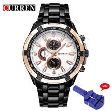 CURREN 8023 de Los Hombres Relojes de Primeras Marcas de Lujo de Los Hombres Militares Relojes de Pulsera Hombres de Acero Completo Reloj Deportivo Relogio Envío para el Regulador