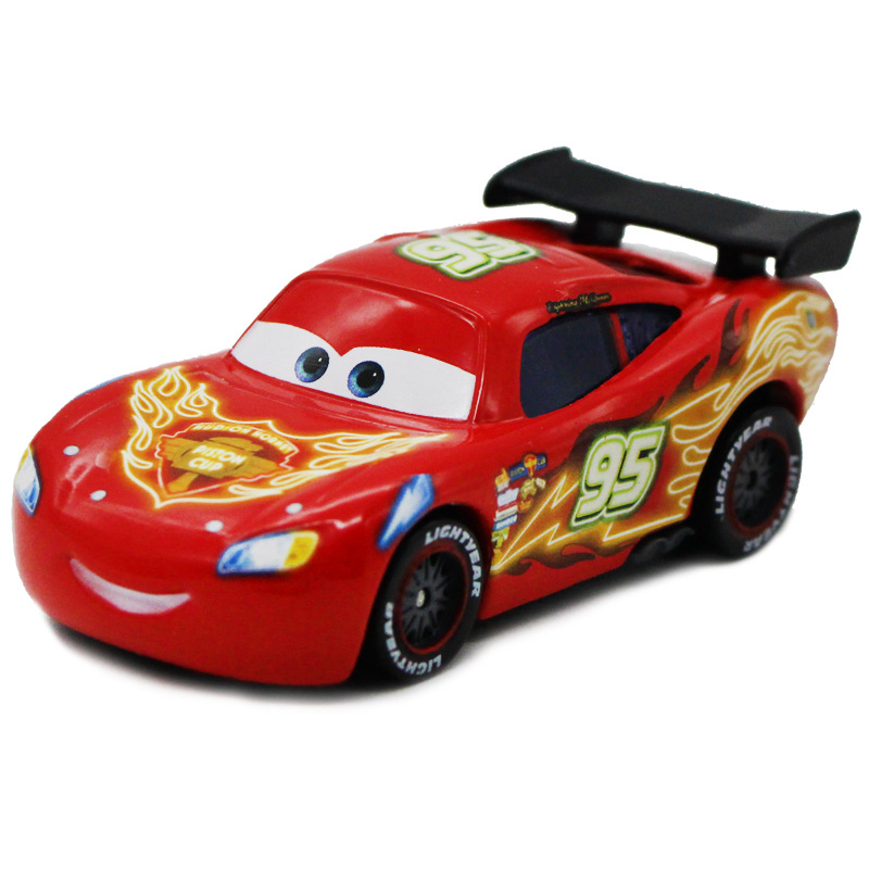 <font><b>Disney</b></font> Pixar <font><b>Cars</b></font> 2 No.95 Lightning Mcqueen colored drawing Metal Diecast alloy Toy <font><b>Car</b></font> model for children 1:55 Brand toys new image
