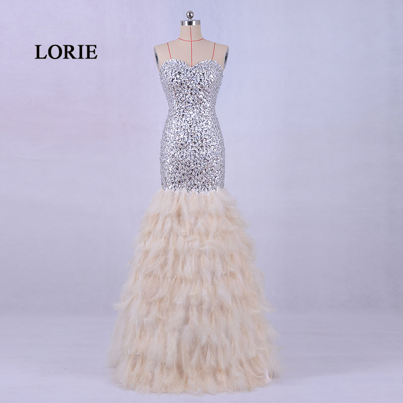 LORIE 새 패션 페더 이브닝 드레스 럭셔리 아가씨 - 특별한 날을위한 드레스