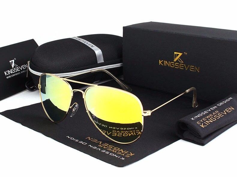 58mm Retro Sunglasses Women Kingseven Luxury Brand Female Sun glasses For Women 16 Fashion Oculos Designer Shades Unisex 3025 9