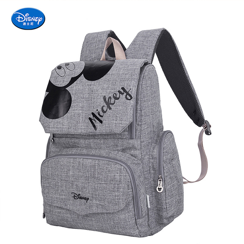Disney Baby Diaper Bags Mickey Minnie waterproof Maternity Nappy Diaper Stroller Bag Insulation Large Capacity Mochila Backpack in Diaper Bags from Mother Kids