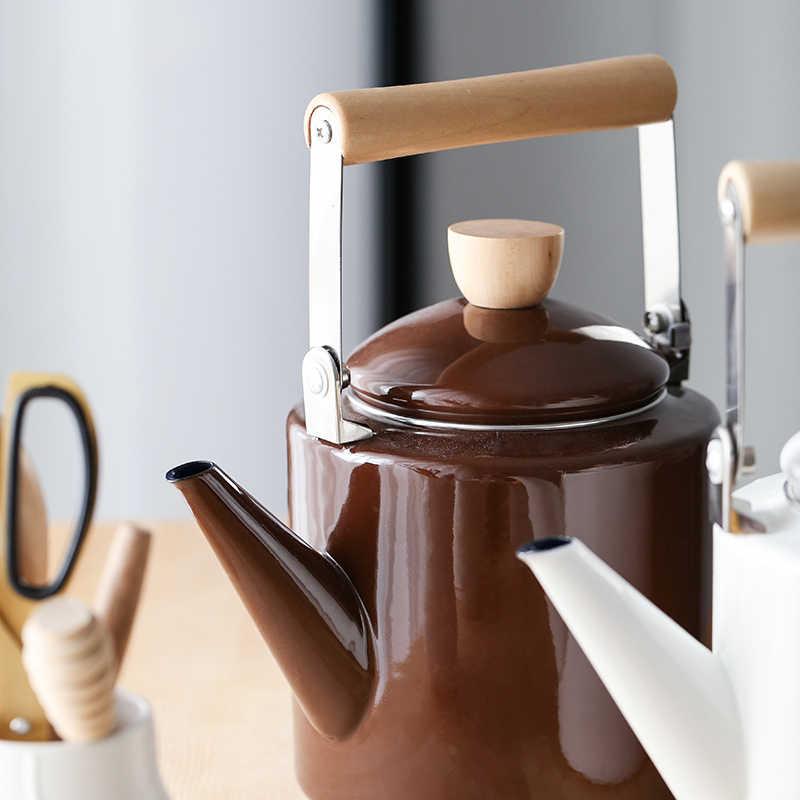 Classico stile giapponese pentola di 2.0L dello smalto bollitore caffettiera vaso di fiori vaso di fiori Piano Cottura A Induzione elettromagnetica fornace generale