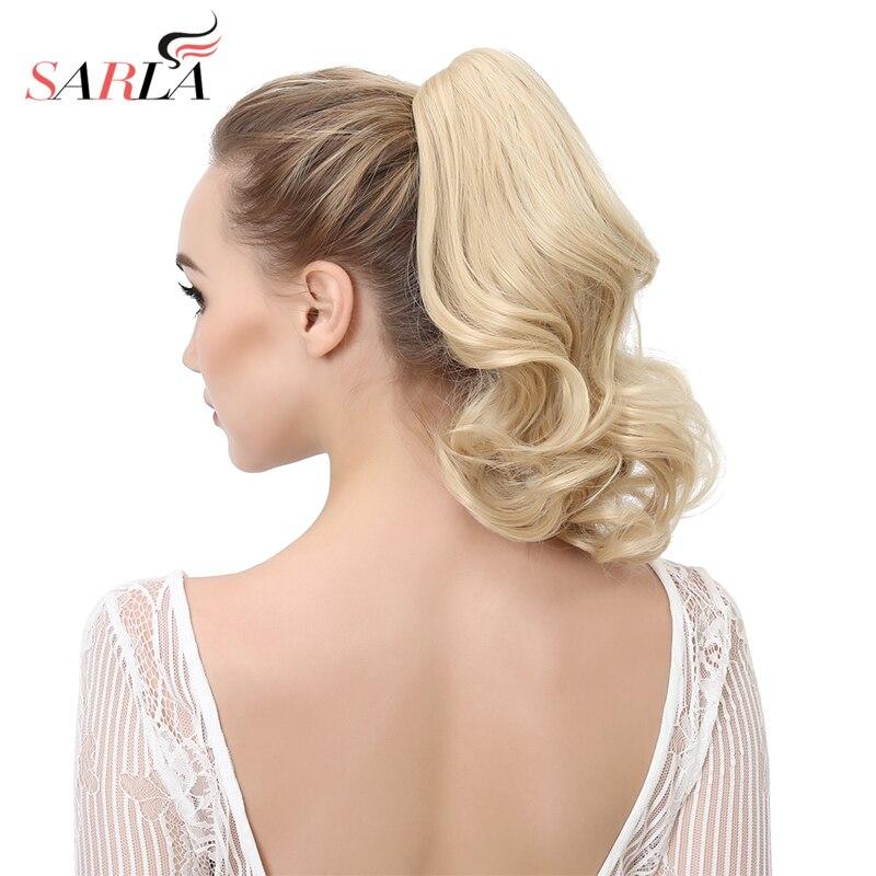 Короткие волнистые синтетические волосы SARLA для наращивания, 14 дюймов, конский хвост, высокотемпературное волокно, жаропрочные шиньоны P004|hairpiece short|hairpiece hair extensionhairpiece hair | АлиЭкспресс