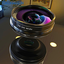 Flower Bud 5K HD Phone Lens Wide Angle Macro Lens No Distortion 0.45X Professional 2 in 1 Camera for Smartphone iPhone Mobile