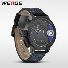 WEIDE watches menelectronics  quartz sports wrist watch genuine water resistant analog leather men's watch Schocker  steampunk недорого