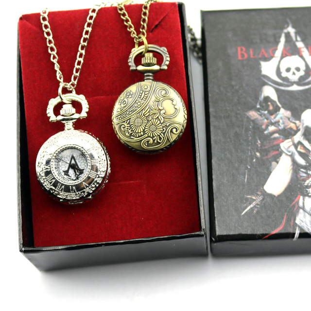 Top Montre de poche Anime Film pour Assassins Creed Connor avait la  FE79