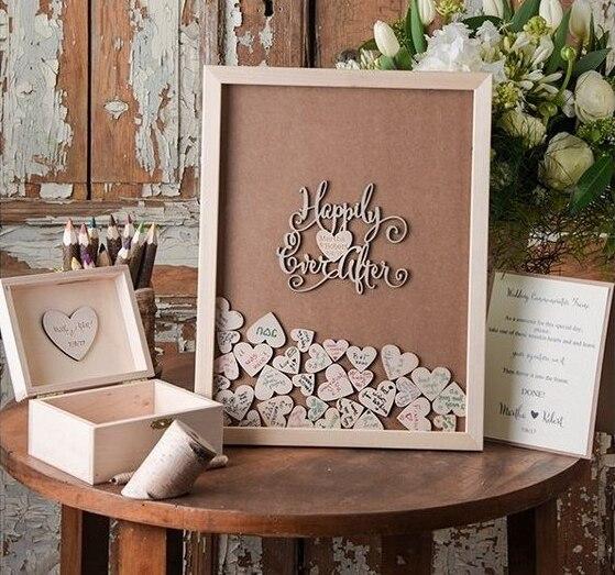 aliexpress com   buy wedding guest book frame custom drop top guestbook wedding decoration