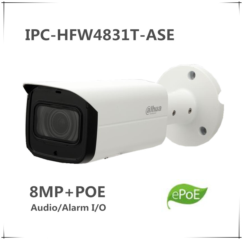 2019 New Style Wholesale Dahua Original English Ipc-hfw4831t-ase 8mp Poe Ir Mini Bullet Network Camera Ip67 Ik10 Wdr Cctv Audio/alarm I/o Ipc Back To Search Resultssecurity & Protection Surveillance Cameras