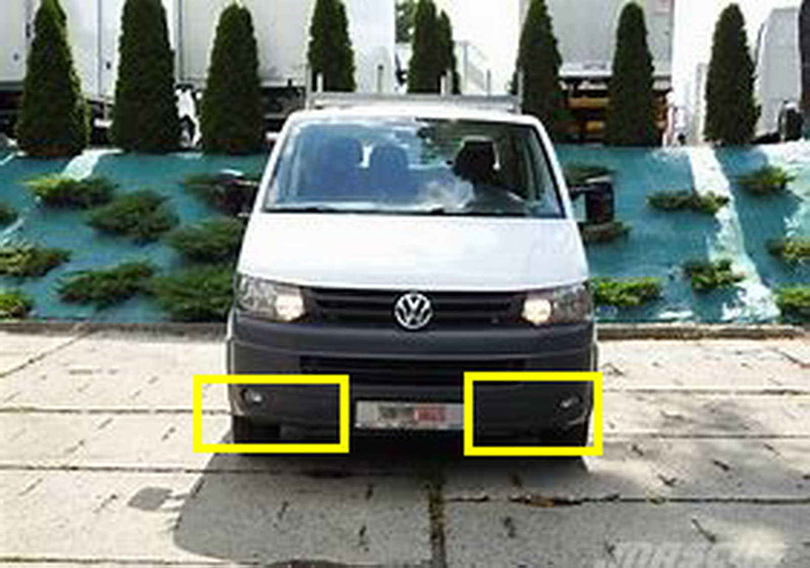 Para VW Transporter T5 Parachoques Delantero Parrilla-Luz De Niebla Parrilla//Derecho