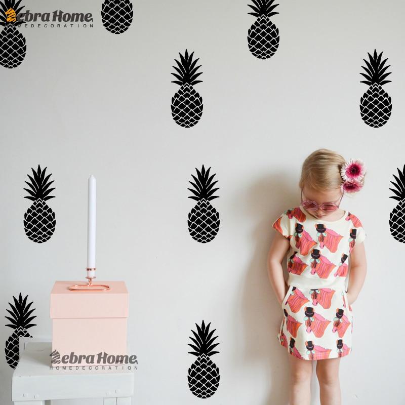 DIY Ananas Ananas Abnehmbare Vinyl Wandaufkleber Für Wohnzimmer Baby - Wohnkultur - Foto 4
