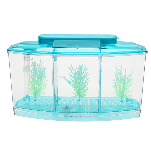 Betta Fish Tank Partition Water Grass Odorless Spawning Fish Tank