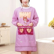 Korean Apron kitchen gowns long sleeved oil-proof Aprons  For Cooking Baking Restaurant Coffee Shop Kitchen Accessories