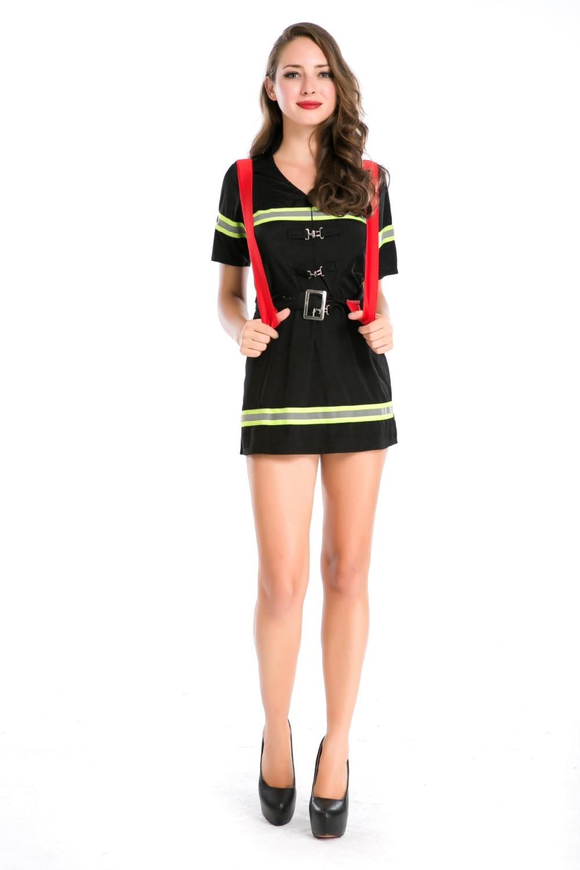 Ensen mujer trajes de bombero adulto Nuevo estilo sexy uniforme de - Disfraces - foto 2