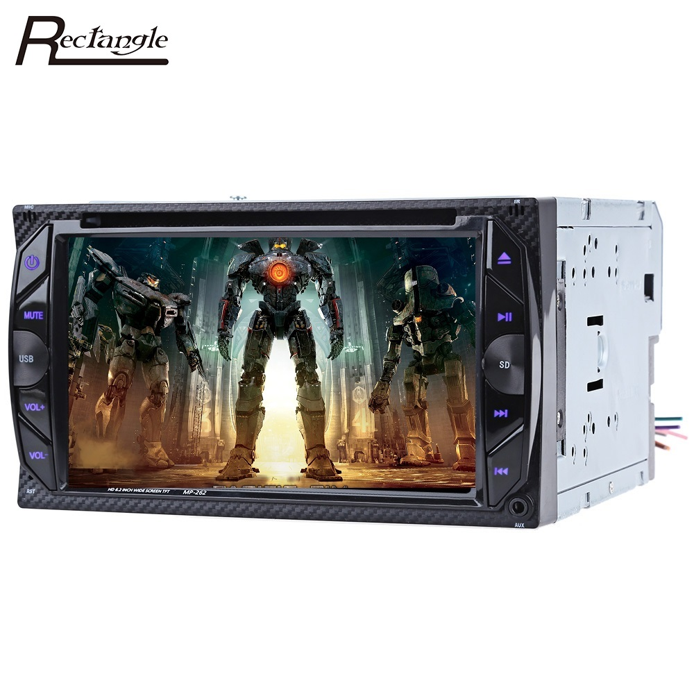 6.2 Inch 2 Din Car DVD Auto Video Player Stereo Video Touch Screen Bluetooth Handfree Call SD USB FM Radio Virtual TV Tuner car dvd radio multimedia audio player bluetooth lcd display touch screen stereo music mp5 player handfree support fm transmitter