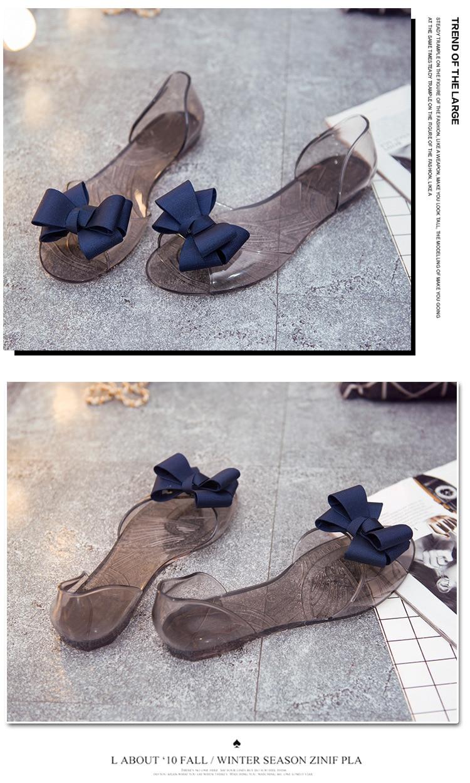 HTB1850nadjvK1RjSspiq6AEqXXae Women Sandals Open Toe Summer Jelly Shoes Woman Fashion Butterfly-knot Flat Sandals Women Beach Shoes Slip On Flip Flops WSH3149
