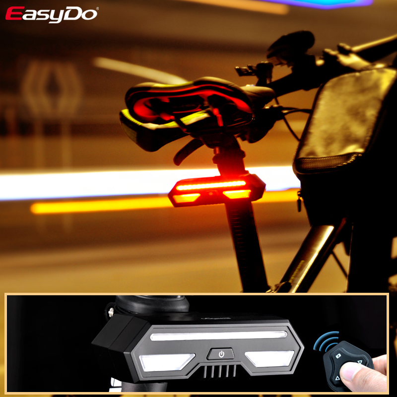 EasyDo Bicycle Rear Taillight USB Rechargeable LED Waterproof Bike Saddle Light