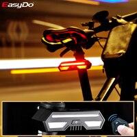 Easydo 스마트 자전거 후면 조명 무선 턴 라이트 충전식 자전거 안전 미등 led 방수 레이저 신호 브레이크 램프