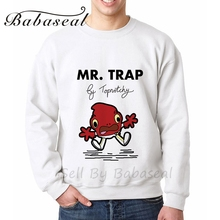 Babaseal Mr Trap Designer Slim Fit Hoodies Hip Hop White Sweatshirt New 2017 3d Print Hoodie Bts Womens Streetwear Clothing