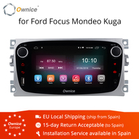Ownice K1 Android 8.1 Car DVD Player GPS Navi for Ford Focus Mondeo Galaxy Kuga with 2G RAM 16G ROM Stereo Head Unit 4G LTE