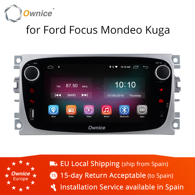 Ownice K1 Android 8.1 Voiture lecteur dvd gps Navi pour Ford Focus Mondeo Galaxy Kuga avec 2G RAM 16G ROM autoradio stéréo 4G LTE