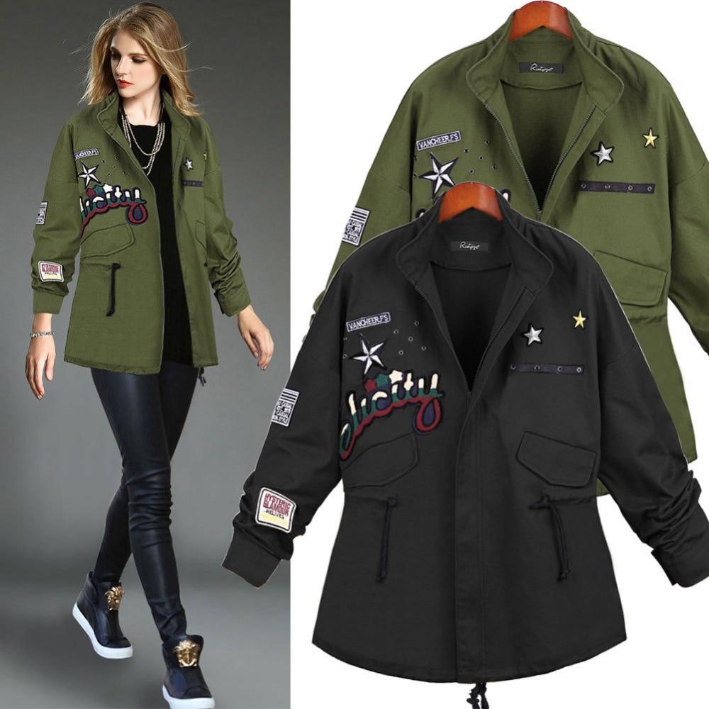 Aliexpress.com : Buy 2015 Fall New Fashion Women Coats Zipper Army
