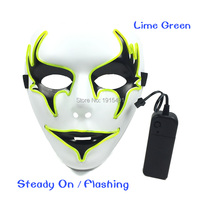 Blinking Wedding Party Favors EL Cold Light Hand Painted Mask Holiday Lighting Neon Led Strip Beauty