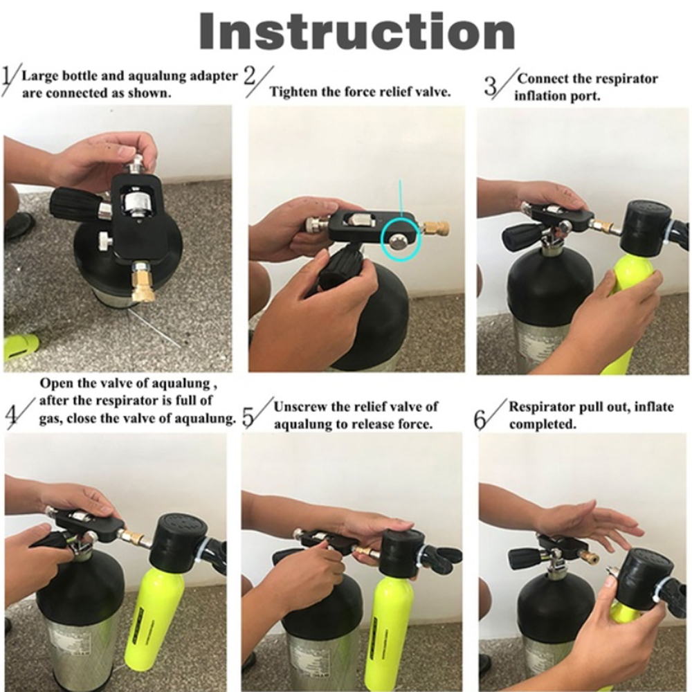 2019 New Mini Diving Scuba Cylinder Air Tank Valve Respirator Box Diving Equipment Snorkeling Underwater Breathing Accessory in Snorkels from Sports Entertainment