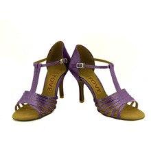 YOVE w1610 40 Dance Shoes Satin Latin Salsa Dance Shoes Women s Color Contrast Open Toe