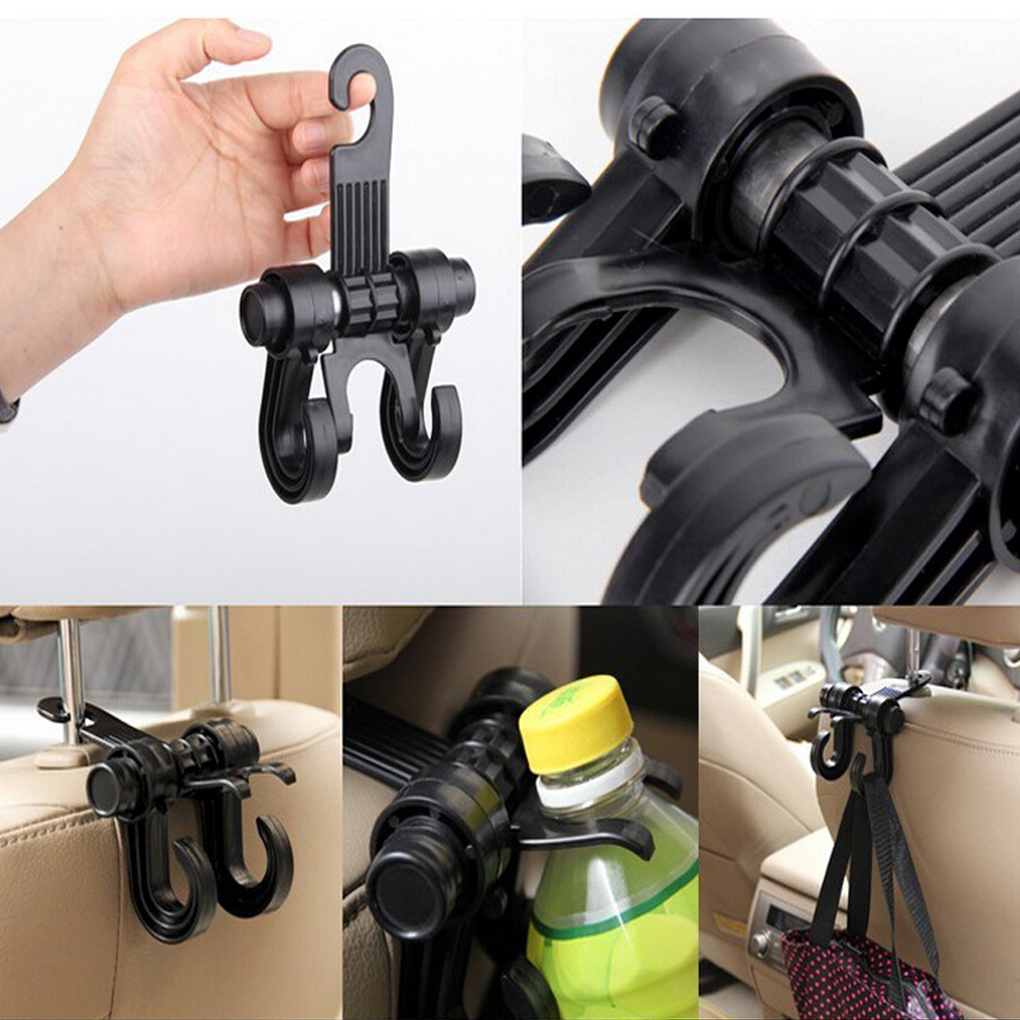 Car Seat Chair Storage Purse Bag Hanging Double Hooks