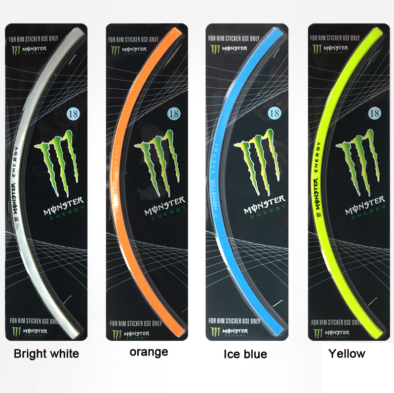 New  16 Strips Bike Car Motorcycle Wheel Tire Rim Stickers And Decals Decoration Stickers Car Styling Accessories Free shipping 1pcs 3d simulation of car stickers car accessories styling moulding motorbike decals free shipping