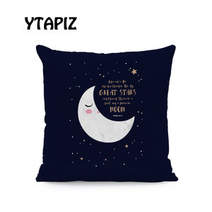 Image 2 - White Moon Cloud Star Alphabet Islam Saudi Arabia Castle Ramadan Pattern Kaseem Mubarek 45X45Cm Velvet Decorative Cushion Pillow