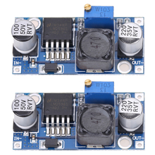 2 pcs LM2596 Step Down Power Module LM2596S DC-DC 3A Adjustable Buck Step-Down Power Converter Module