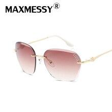 MAXMESSY Retro Mujeres Gafas de Sol de Moda Sin Marco Gafas de Sol Mujeres Diseñador de la Marca de Lujo de Las Señoras de Conducción gafas de sol mujer M935
