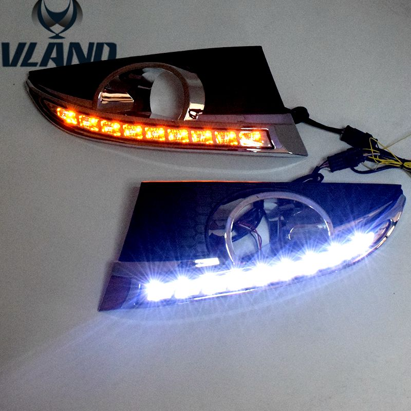 Free shipping vland factory for  Captiva Daytime Running Light LED 2012 2013 2014 2015  Two colors (White and Yellow)