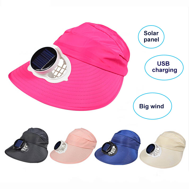 Solar Fan Hat usb charging Big Wind Half Empty Top Hat Summer Outdoor Work Fishing Ventilation Cooling Fan Cap Sun protectionSolar Fan Hat usb charging Big Wind Half Empty Top Hat Summer Outdoor Work Fishing Ventilation Cooling Fan Cap Sun protection