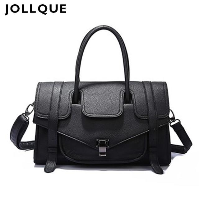 Jollque 2017 Large Soft Leather Bag Women Handbag Ladies Crossbody Bag  Shoulder Bag Female Big Tote Sac A Main Famous Brand 60d34e3765b15