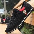Dos homens calçados casuais, Dos homens de superfície líquida respirável sapatos de malha sapatos maré coreano Plus size 46