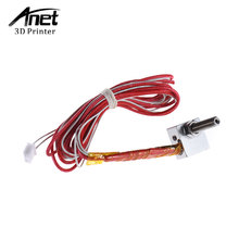 Anet Hih Quality DIY Hot End Kit Nozzle M6 Extruder Throat Heater Thermistor Aluminum Heater Block for Anet A2 A6 A8 3D Printer(China)