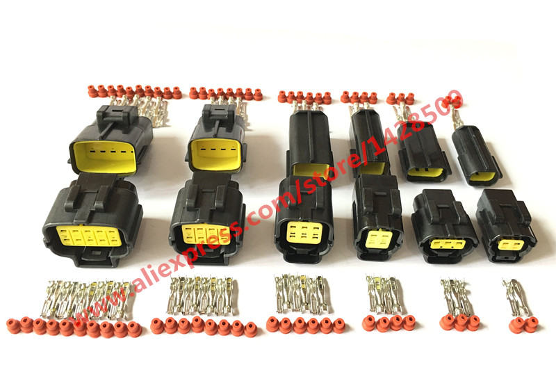 6 Sets 2P 3P 4P 6P 8P 10P Denso Style 2.0 Series Cable Adapter Wire Connector Automotive Electrical Connector 174259-2 318623-5 5pcs xh2 54 2p 3p 3p 4p 5p 6p 7p 8p 10p xh2 54mm connector plug wire cable 20cm length tin copper wire 2pin to 10pin