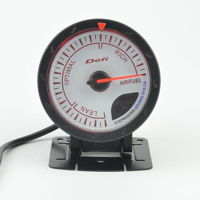 "2.5"" 60MM Advance Auto gauge Air/Fuel  Gauge Lean Optimal Rich gauge White Face Car modification Free shipping"