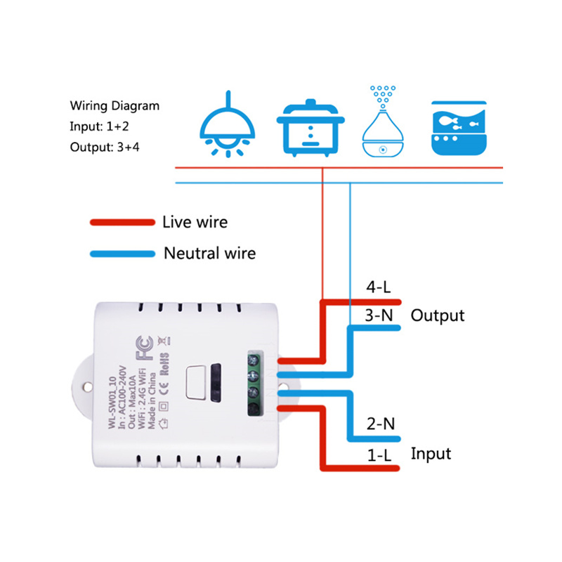 Image 3 - Wifi Switch Relay  DIY Module AC 220V 110v Wireless Wi fi Light Timer Switch For Home Automation Smart Remote Control-in Remote Controls from Consumer Electronics