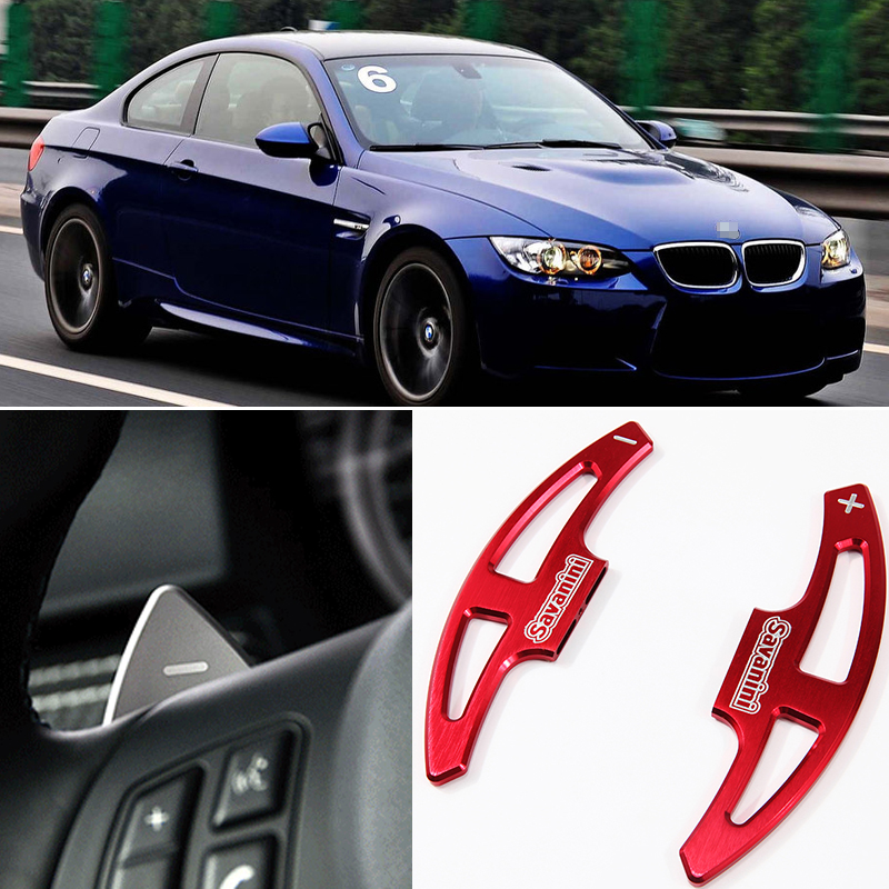tommia For BMW M3 2009 2013 2pcs Steering Wheel Aluminum Shift Paddle Shifter Extension Car styling in Steering Wheels Steering Wheel Hubs from Automobiles Motorcycles