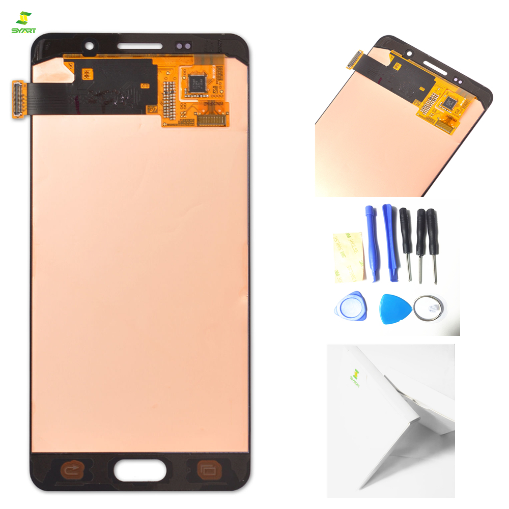 5,2 ''LCDs A5 2016 A510 Für SAMSUNG Galaxy A5 2016 A510 A510F A510M A510FD LCD Display mit Touch Screen LCDs Digitizer Montage
