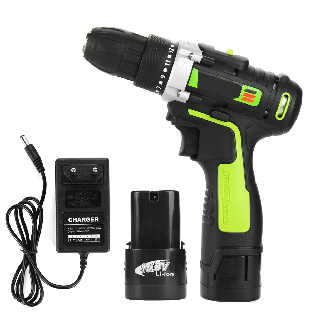 16.8v New Two Speed Rechargeable Lithium Battery Household mini Hand Cordless Drill Electricity driver Electric screwdriver цена