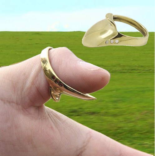 Brass Material Traditional Archery Thumb Ring Finger Protector For Bow Shoot