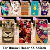 Painted Phone Cases For Huawei GR5 Honor 5X Honor Play 5X Mate 7 Mini 5.5 inch Honor5X mate7 mini cases Phone bags Cover Housing