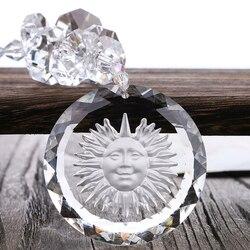 H & d shinning cristal de vidro sun encantos pingente claro suncatcher cristal rainbow maker para janela, 50mm sun encantos presente encaixotado