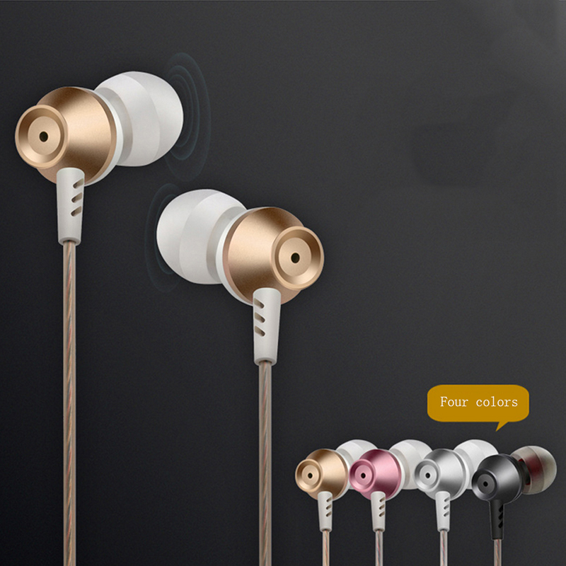 Metal Noise Canceling Earphone Perfume Bass Headset Hands free with Mic for MP3 Earbud audifonos fone