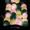 Tailândia 3.5 m 35 pcs Bolas de Algodão Romântico Lâmpadas de Iluminação de Fundo Luzes LED String Casamento Festa de Natal