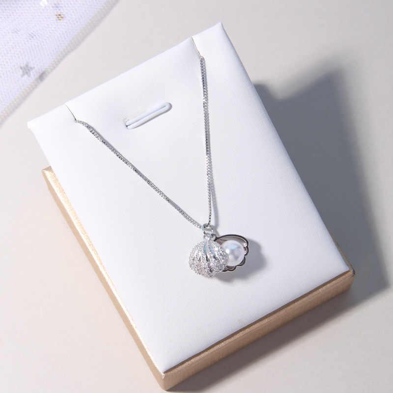 Ataullah ファッションシェル真珠のネックレスシンプルな人格スターリングシルバー 925 ジュエリーのペンダントチェーンパーティービジュー NW056